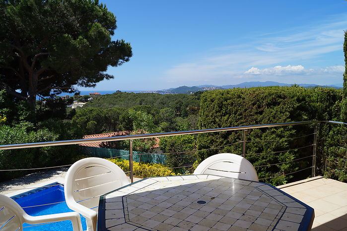 House for rent with private swimming pool, 3bedrooms, on the best beach of the costa Brava. Canyelles/Lloret de mar