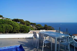 House with beautiful sea view and private pool for rent in Cala Canyelles.
