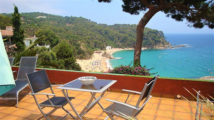 Lovely loft with breathtaking sea views for rent in Cala Canyelles.