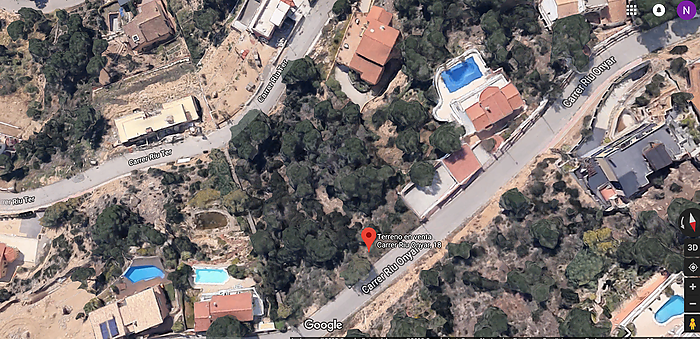 Land for sale in Roca Grossa spectacular views to Lloret de Mar
