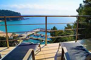 Nice house for rent with fantastic views to the bay Cala Canyelles (Lloret de Mar)