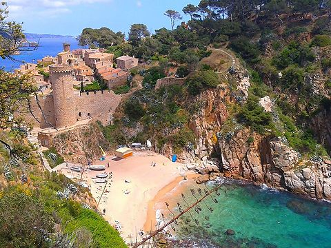 Beach Cala Codolar in Tossa de Mar.