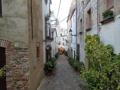 Winding alleyways of Tossa de mar.