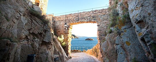 Medieval city walls of Tossa de Mar.