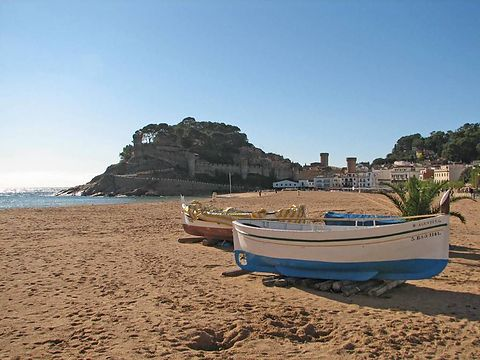 Main beach of Tossa de Mar.