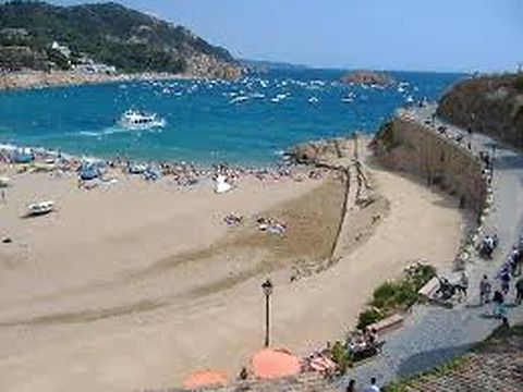 Sandy beach Playa Gran in Tossa de mar.